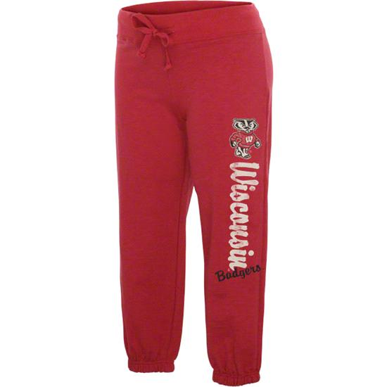 Wisconsin Badgers Women's Red Pacer French Terry Capri Pants