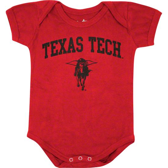 Texas Tech Red Raiders Newborn/Infant Red Big Fan Creeper