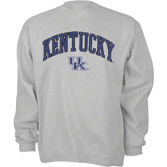 Kentucky Wildcats Grey Tackle Twill Crewneck Sweatshirt