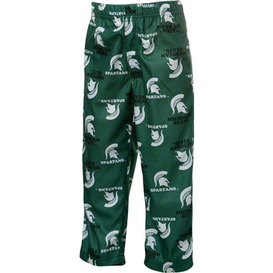 Michigan State Spartans Kids 4-7 Green Team Logo Printed Pants