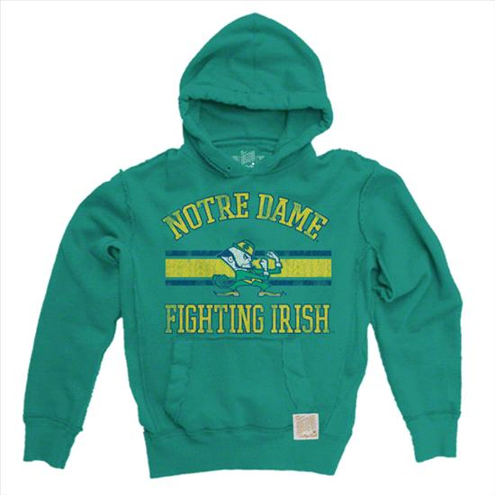 Notre Dame Fighting Irish Sprite Original Retro Brand Vintage Hooded Sweatshirt