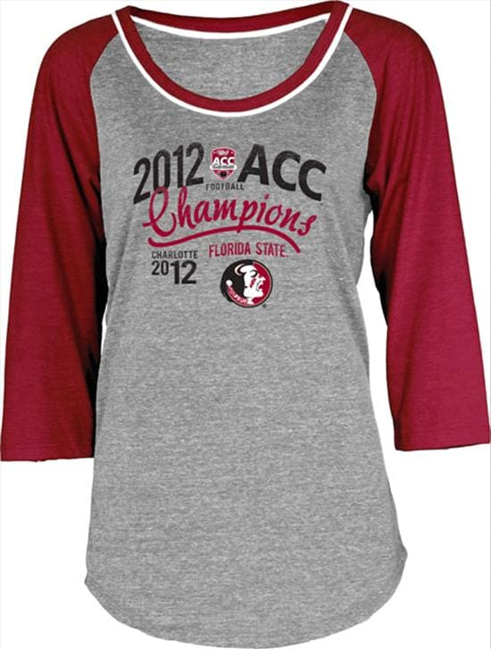 Florida State Seminoles Women's 2012 ACC Football Champions Carnival Tri-Blend 3/4 Sleeve T-Shirt