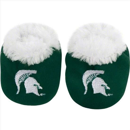 Michigan State Spartans Baby Bootie Slipper