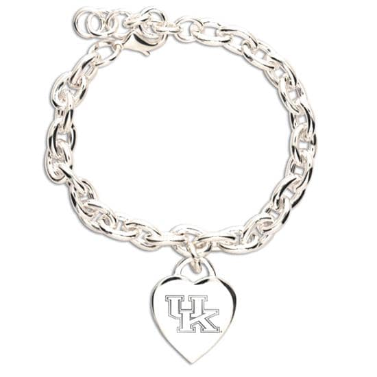 Kentucky Wildcats Heart Charm Bracelet