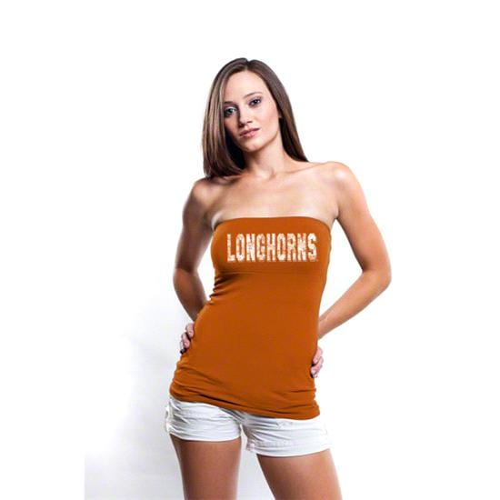 Texas Longhorns Women's Dark Orange Tube Top