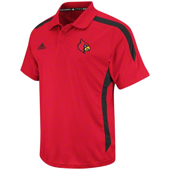Louisville Cardinals Red adidas 2012 Football Sideline Polo