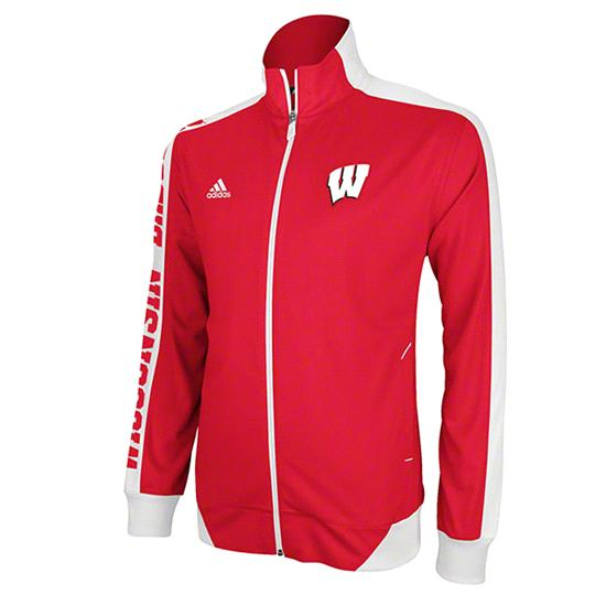 Wisconsin Badgers Red adidas 2012 Football Sideline Swagger Warm Up Full-Zip Jacket