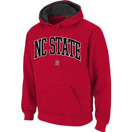 North Carolina State Wolfpack Red Twill Arch Hooded Sweatshirt