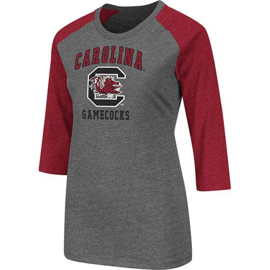 South Carolina Gamecocks Cardinal Women's Nimbus 3/4 Sleeve T-Shirt