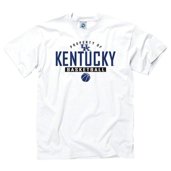 Kentucky Wildcats White Property of Basketball T-Shirt