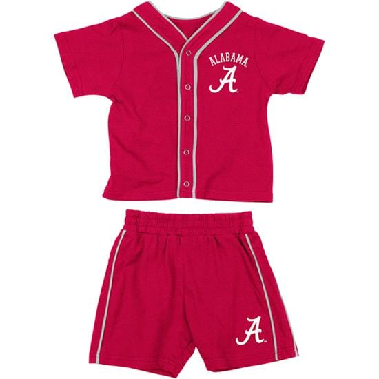 Alabama Crimson Tide Crimson Infant Outfield T-shirt and Shorts Set