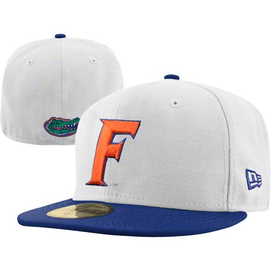 Florida Gators New Era White/Royal 59FIFTY Fitted Hat