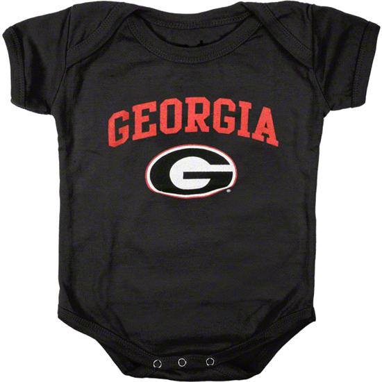 Georgia Bulldogs Newborn/Infant Black Big Fan Creeper