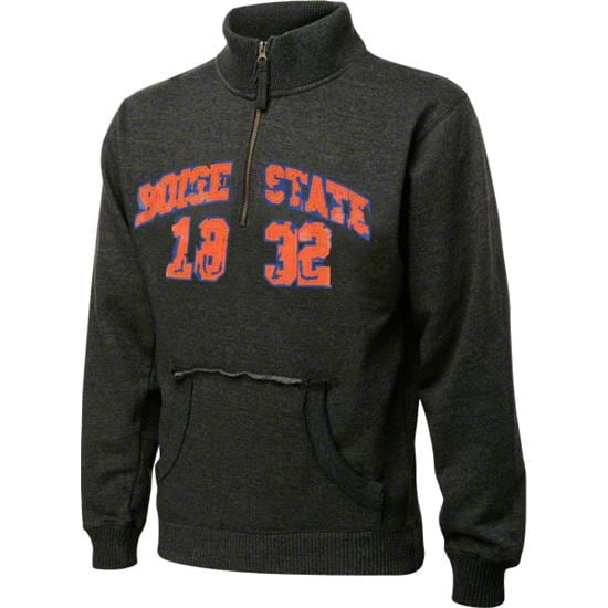 Boise State Broncos Charcoal Collegiate Crush 1/4 Zip Fleece Sweatshirt