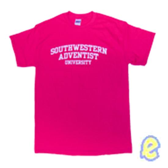 Southwestern Adventist University Block Arch Tee - Pink