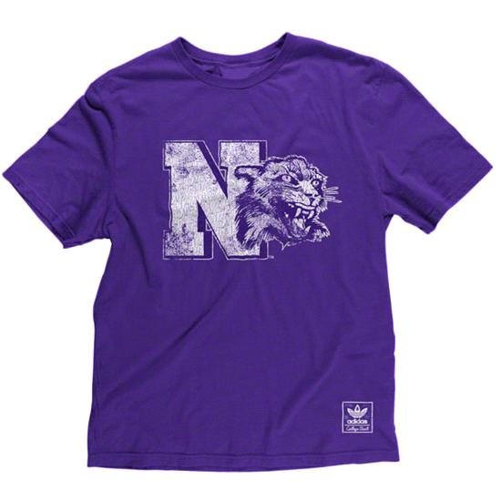 Northwestern Wildcats Purple Vintage CV Mascot T-Shirt