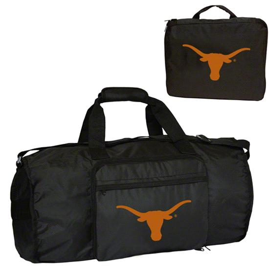 Texas Longhorns Fold-Away Duffle Bag