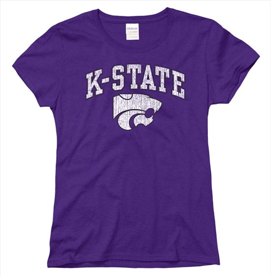 Kansas State Wildcats Women's Arch N Mascot T-Shirt