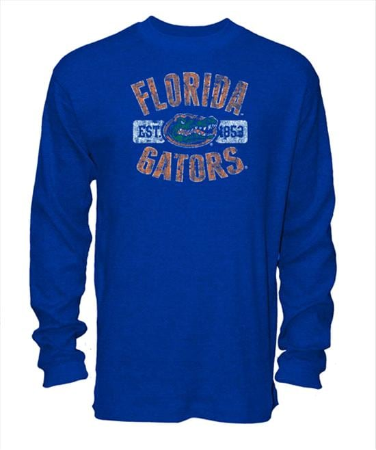 Florida Gators Old Varsity Brand Royal Youth Thermal Long Sleeve T-Shirt