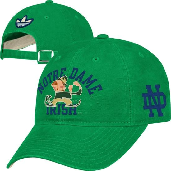 Notre Dame Fighting Irish adidas Green Homecoming Slouch Adjustable Hat