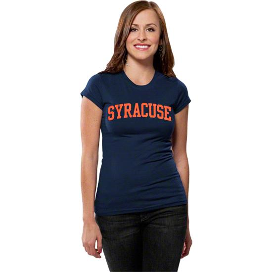 Syracuse Orange Women's Navy Jr. Varsity Team Arch T-Shirt