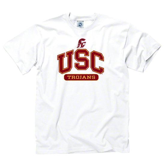 USC Trojans Youth White Athletics T-Shirt