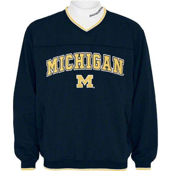 Michigan Wolverines Windshirt/Long Sleeve Mockneck Combo Pack