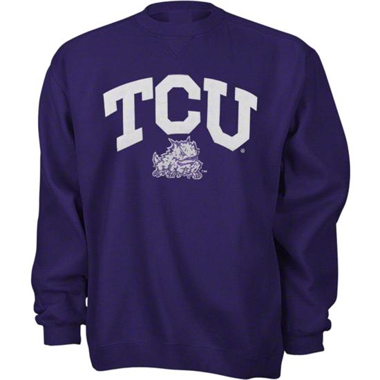 TCU Horned Frogs Purple Tackle Twill Crewneck Sweatshirt