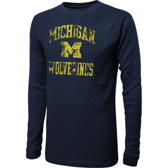 Michigan Wolverines Youth Navy Alumni Hall Retro Thermal