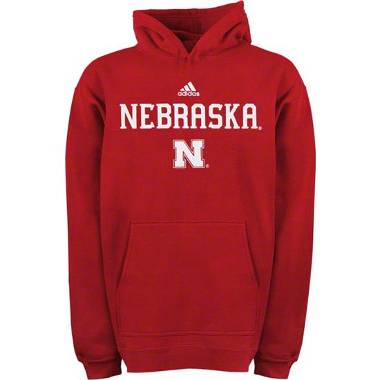 Nebraska Cornhuskers Toddler adidas Red 2011 Football Sideline Hooded Sweatshirt