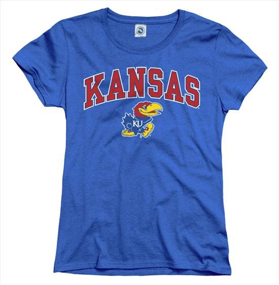 Kansas Jayhawks Women's Arch N Mascot T-Shirt