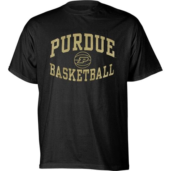Purdue Boilermakers Black Reversal Basketball T-Shirt