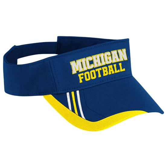 Michigan Wolverines adidas Navy Football Player Adjustable Visor