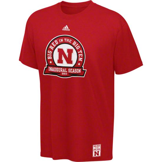 Nebraska Cornhuskers adidas Heathered Red Big Red 2011 Tailsweep Tri-Blend T-Shirt