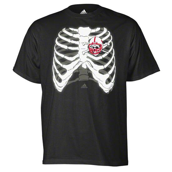 Nebraska Cornhuskers adidas Black Heart of Football T-Shirt
