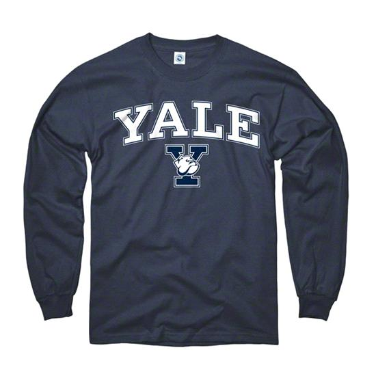 Yale Bulldogs Navy Perennial II Long Sleeve T-Shirt