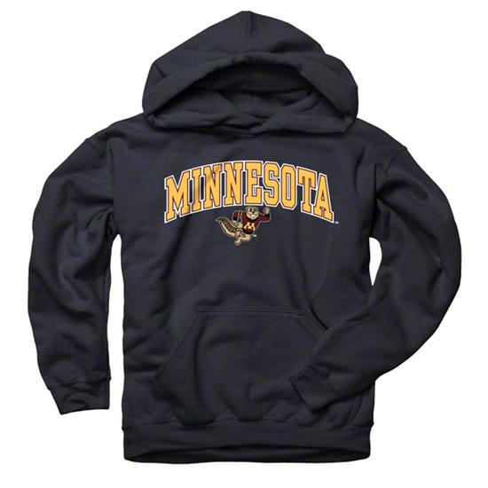 Minnesota Golden Gophers Youth Black Perennial II Hooded Sweatshirt