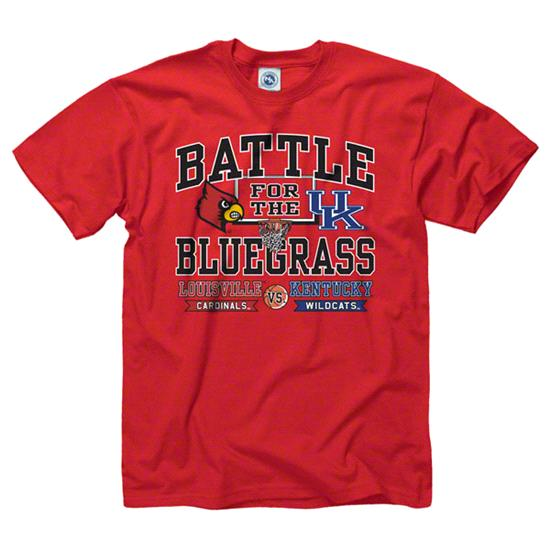 Louisville Cardinals vs. Kentucky Wildcats Red Bluegrass Rivalry T-Shirts