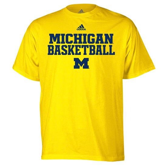 Michigan Wolverines Gold adidas Basketball Sideline T-Shirt