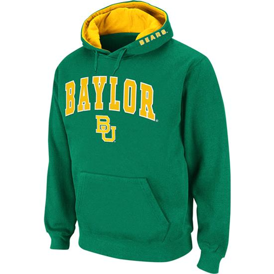 Baylor Bears Dark Green Twill Tailgate Hooded Sweatshirt