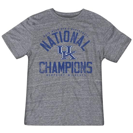 Kentucky Wildcats Grey adidas 2012 NCAA Basketball National Champions Victor Tri-Blend T-Shirt