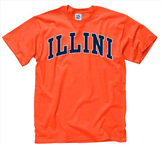 Illinois Fighting Illini Orange Bold Arch Mascot T-Shirt