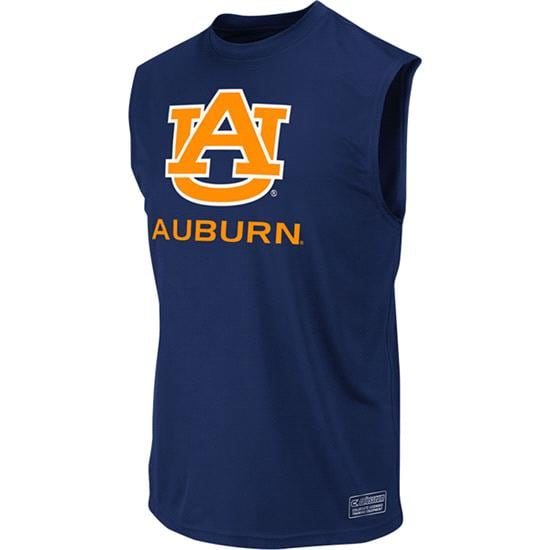 Auburn Tigers Navy Rush Performance Sleeveless T-Shirt
