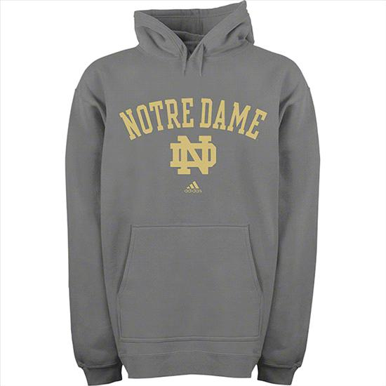 Notre Dame Fighting Irish Toddler Grey adidas Arch Over Mascot Hooded Sweatshirt