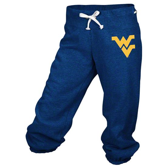 West Virginia Mountaineers adidas Navy Women's Big Better Logo Cropped Capri Pants