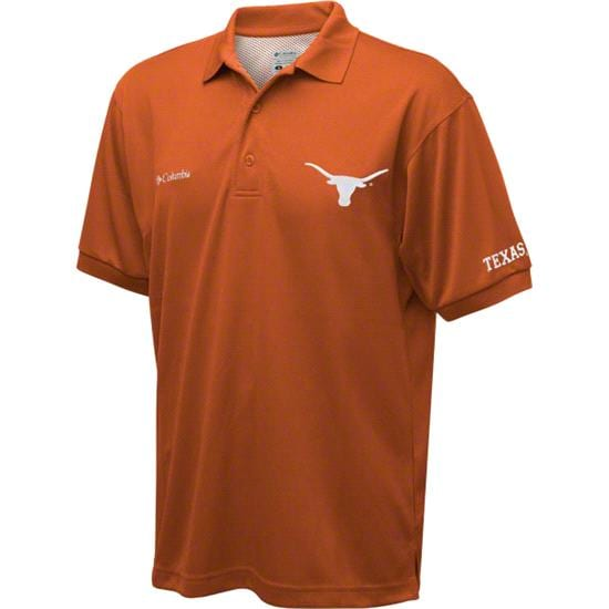 Texas Longhorns Dark Orange Columbia Performance Fishing Gear Perfect Cast Polo Shirt