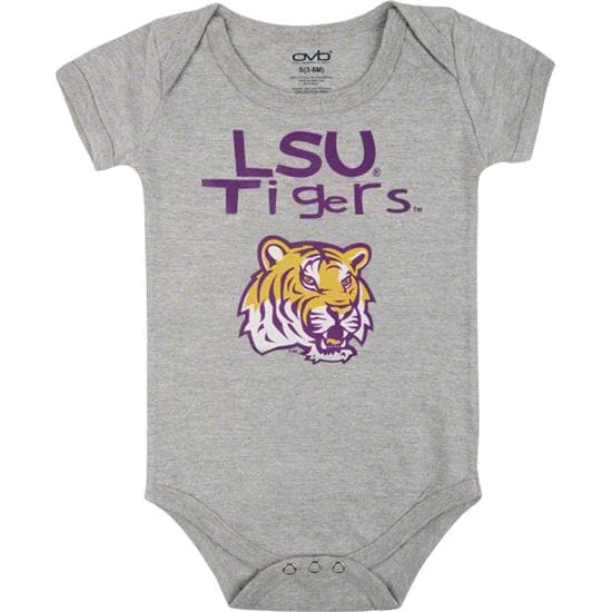 LSU Tigers Infant Grey Little One Creeper