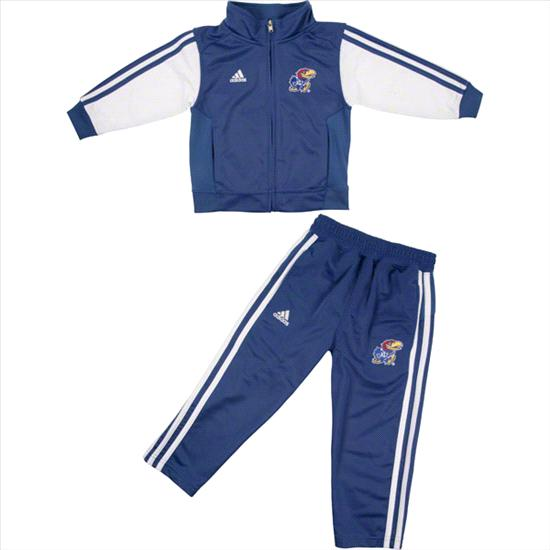 Kansas Jayhawks adidas Royal Toddler Full Zip Track Jacket and Pant Set