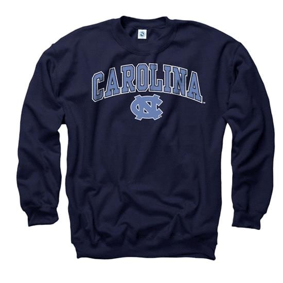 North Carolina Tar Heels Youth Navy Perennial II Crewneck Sweatshirt