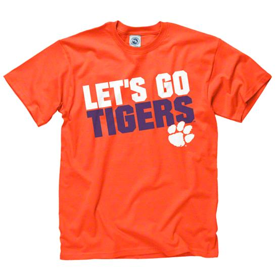 Clemson Tigers Orange Youth Slogan T-Shirt